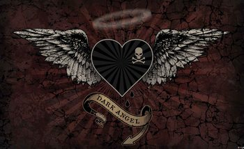 Alchemy Heart Dark Angel Tattoo Wallpaper Mural
