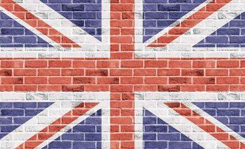 Brick Wall Union Jack Wallpaper Mural
