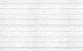 Brick Wall White Wallpaper Mural