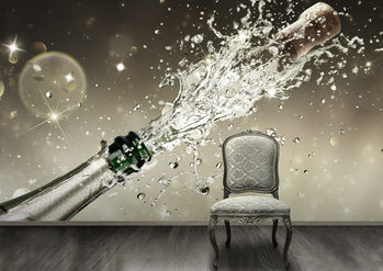 Champagne Wallpaper Mural