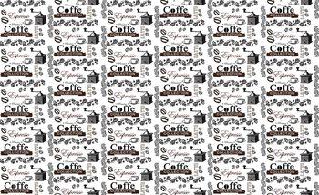 Coffee Pattern Wallpaper Mural