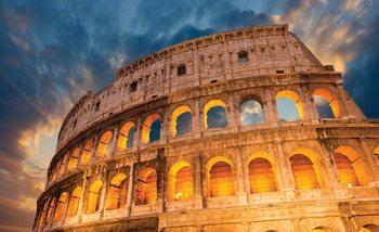 Colosseum City Sunset Wallpaper Mural