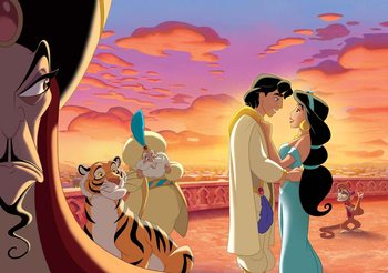 Disney Princesses Jasmine Aladdin Wallpaper Mural