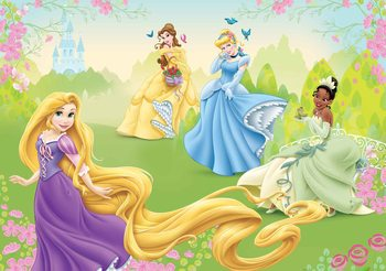 Disney Princesses Rapunzel Tiana Belle Wallpaper Mural