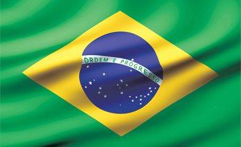 Flag Brasil Wallpaper Mural