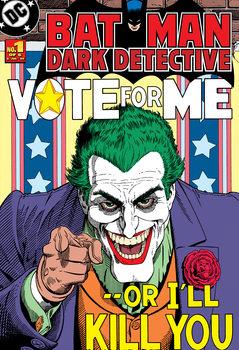 Joker - Vote Me or I'll Kill You Wallpaper Mural