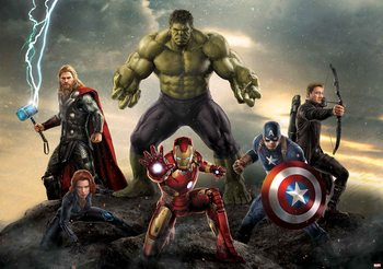 Marvel Avengers Battle Wallpaper Mural