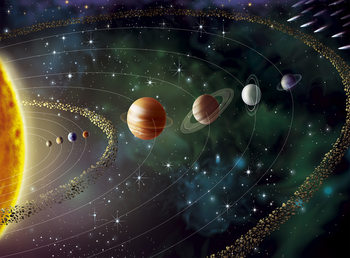Space - planets Wallpaper Mural