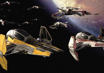 Star Wars Anakin Jedi Starfighter Wallpaper Mural