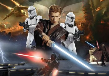 Star Wars Attack Clones Anakin Skywalker Wallpaper Mural
