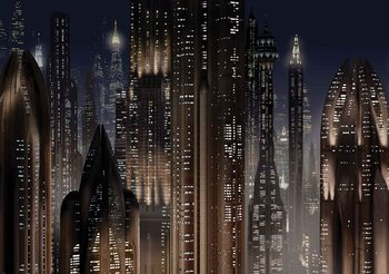 Star Wars City Wallpaper Mural