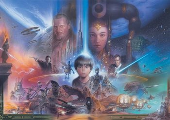 Star Wars Young Anakin Queen Amidala Wallpaper Mural