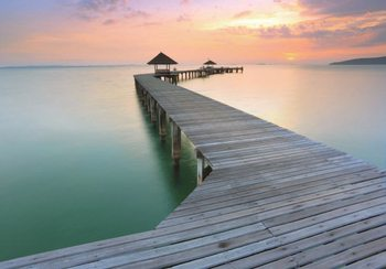 Wooden Landing Jetty  Wallpaper Mural