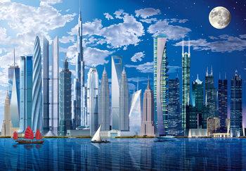 WORLDS TALLEST BUILDINGS Wallpaper Mural