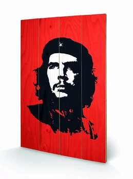 Che Guevara - Red  Wooden Art