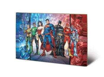DC Comics - Justice League United Wooden Art
