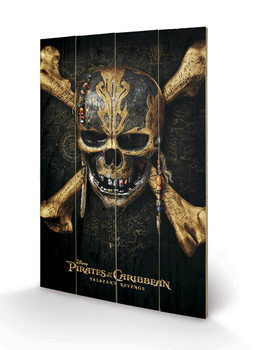Pirates of the Caribbean - Skull Wooden Art