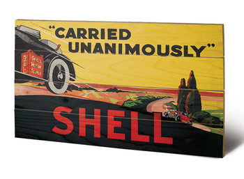 Shell - Carried Unanimously, 1923 Wooden Art