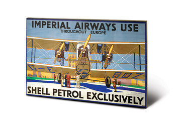 Shell - Imperial Airways Wooden Art