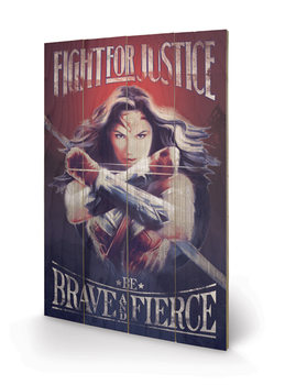 Wonder Woman - Fight For Justice Wooden Art