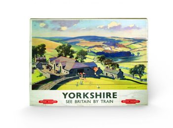 Yorkshire by Train Wooden Art