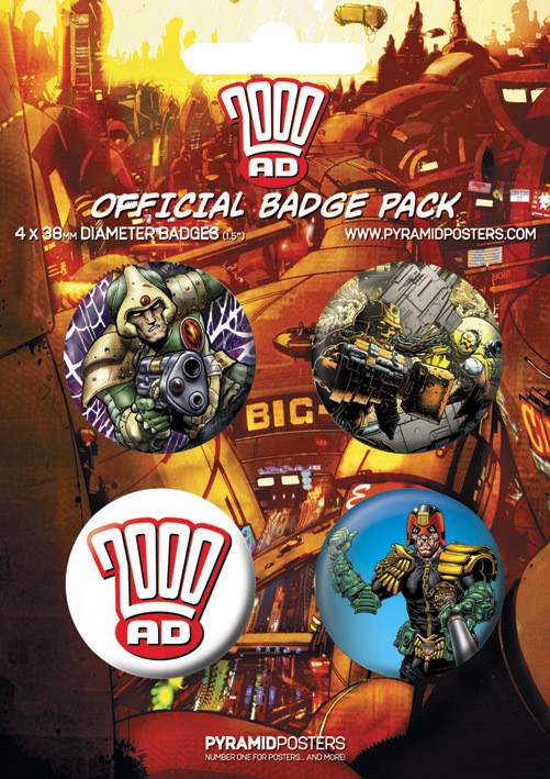 2000AD Badge Pack