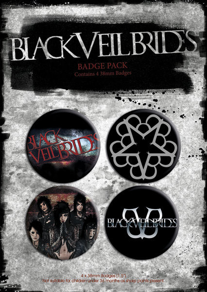BLACK VEIL BRIDES - p.1 Badge Pack