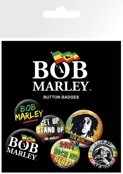 BOB MARLEY - logos Badge Pack