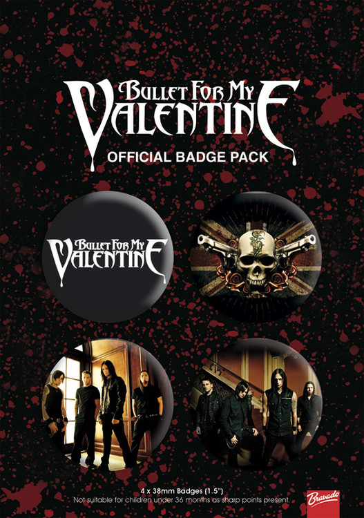 BULLET FOR MY VALENTINE 1 Badge Pack