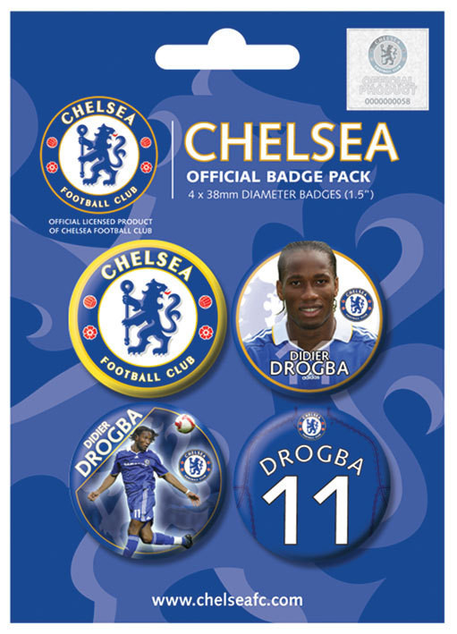 CHELSEA - Drogba Badge Pack