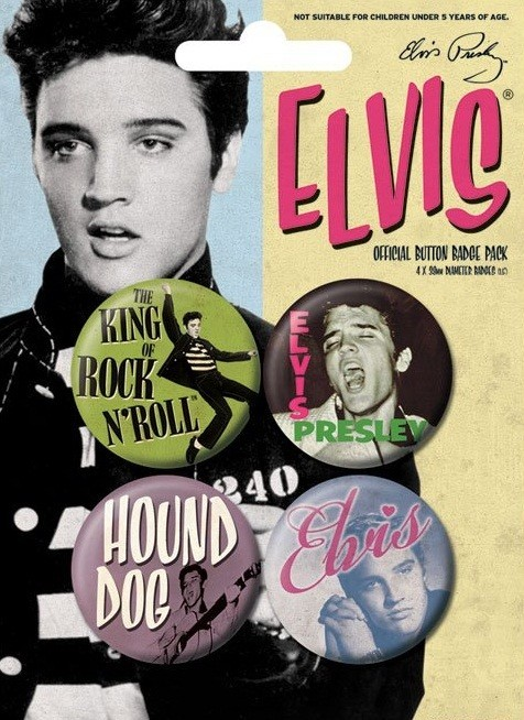 ELVIS PRESLEY - young Badge Pack