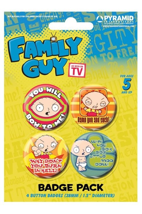 FAMILY GUY - stewie Badge Pack