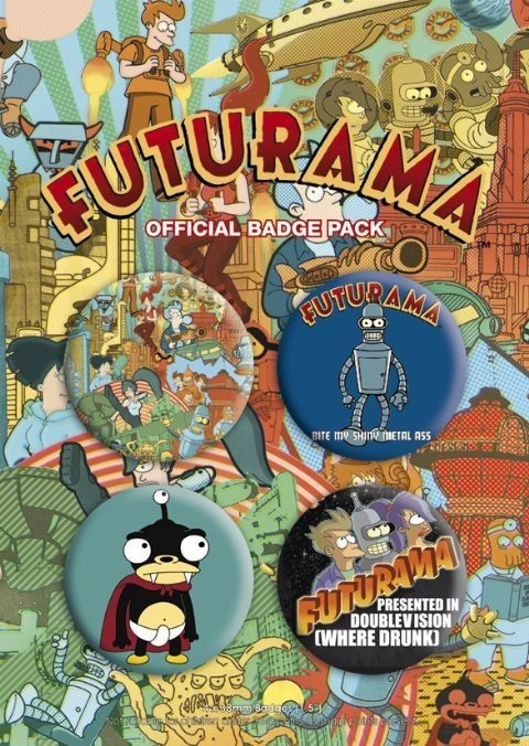 FUTURAMA Badge Pack