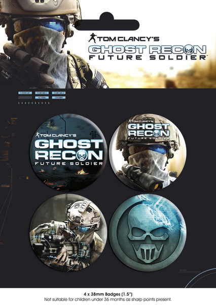 GHOST RECON - pack 1 Badge Pack