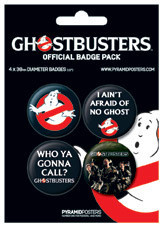 GHOSTBUSTERS - peter, ray Badge Pack