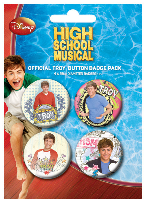 HIGH SCHOOL MUSICAL - Troy Badge Pack