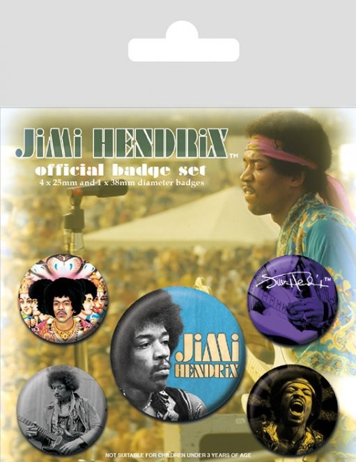 Jimi Hendrix Badge Pack