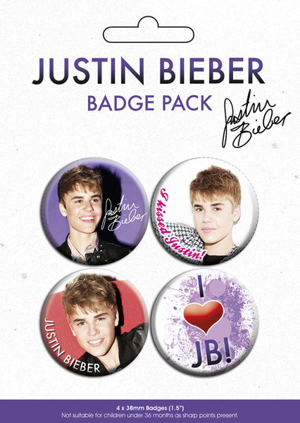 JUSTIN BIEBER - pack 3 Badge Pack