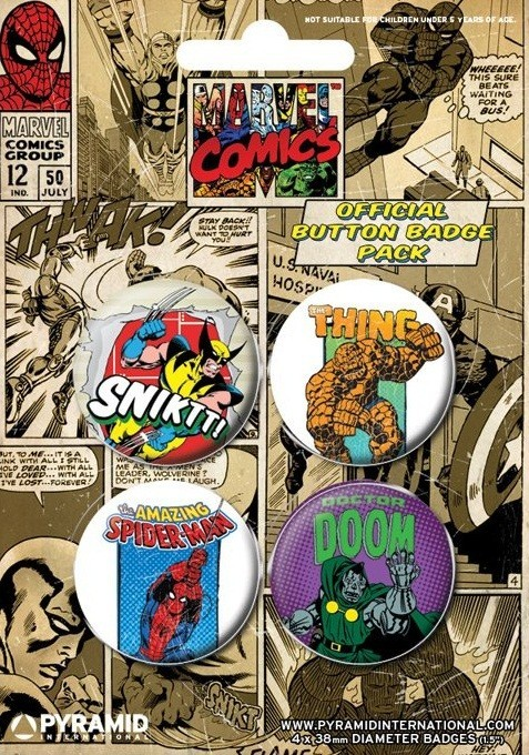 MARVEL COMICS 3 Badge