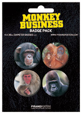 MONKEYS BUSINESS Badge
