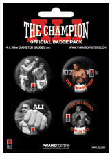 MUHAMMAD ALI - champion Badge Pack