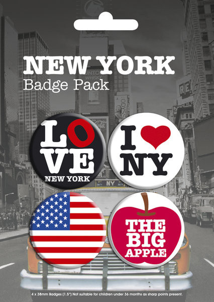 NEW YORK - pack 1 Badge Pack