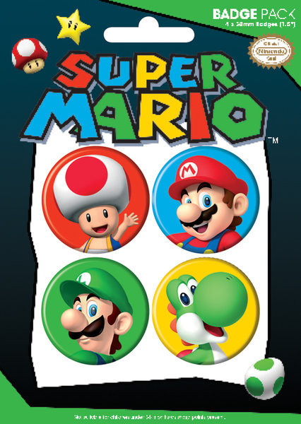 NINTENDO - pack 2 Badge Pack
