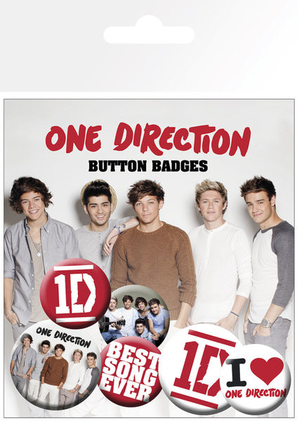 ONE DIRECTION - best song Badge Pack
