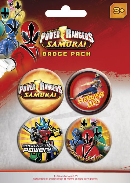 POWER RANGERS - pack 1 Badge