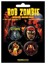 ROB ZOMBIE Badge Pack