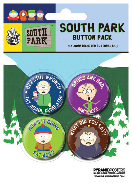 SOUTH PARK - Slogans Badge Pack