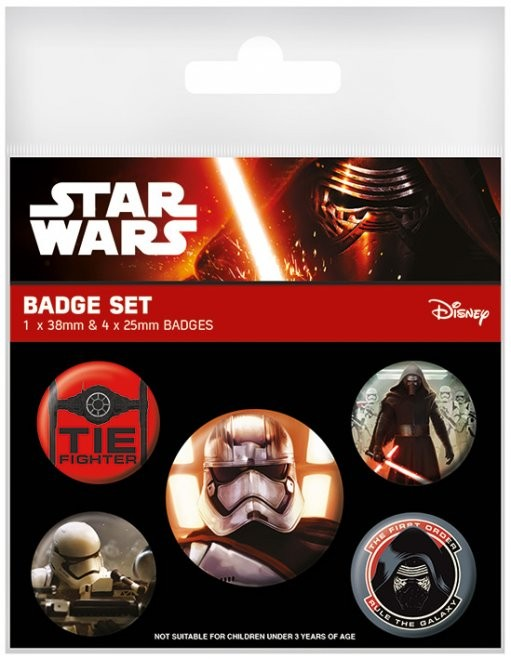 Star Wars Episode VII: The Force Awakens - First Order Badge Pack