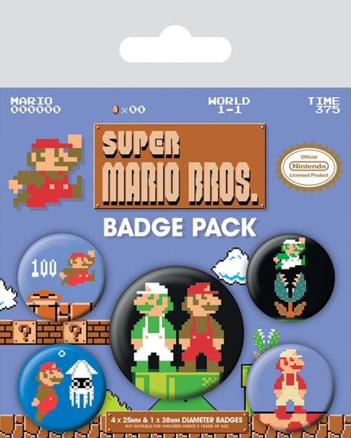 Super Mario Bros. - Retro Badge Pack
