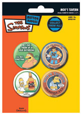 THE SIMPSONS - moe's tavern Badge Pack